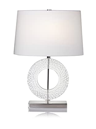 Lighting Accents Circle Etched Acrylic Table Lamp