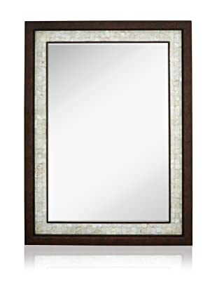 Mother-of-Pearl Shell Inlay Mirror (Antique Mahogany)