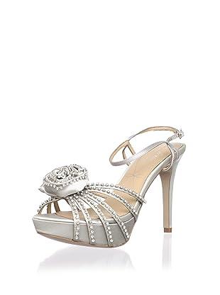 Le Soir Pour La Victoire Women's Hollyn Platform Sandal (Silver)