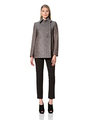 MARTIN GRANT Women's Two-Tone Peacoat (Black)
