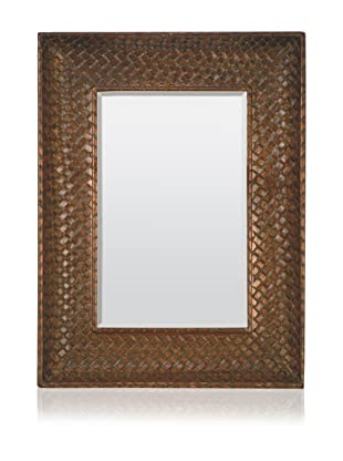 Basket Weave Mirror (Bronze)