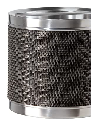 Oggi Stainless Steel Double Walled Ice Bucket with Woven Vinyl Wrap
