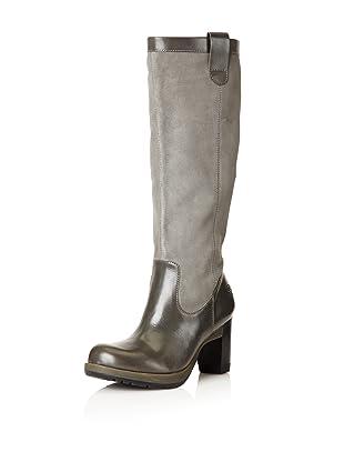 Dr. Martens Women's Josie Motorcycle Boot (Grey/Grey Mare)