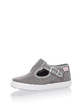 Cienta Kids T-Strap Sneaker (Black)