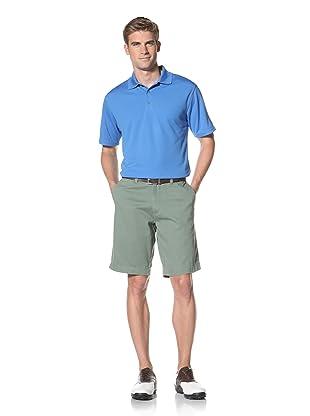 PGA Tour Men's Solid Polo (French Blue)