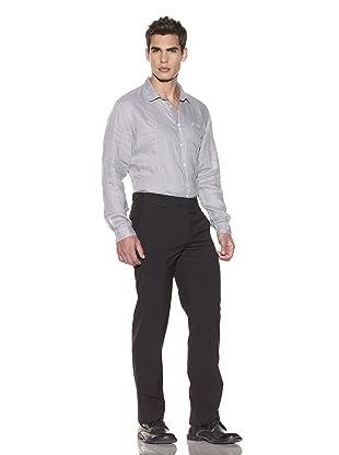 John Varvatos Collection Men's Austin Mini-Check Trouser (Concrete Heather)