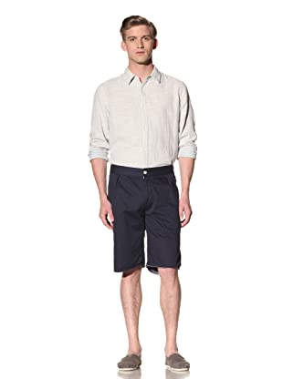 Riviera Club Men's Cut-Off Pleat Shorts (Navy)