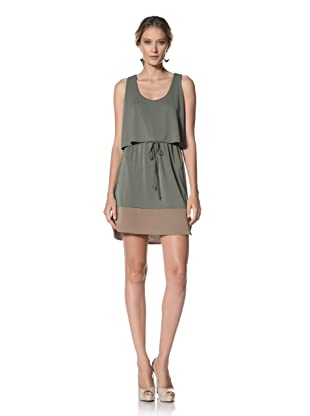 Kenneth Cole Women's Double Layer Dress (Tropical Green/Oak)