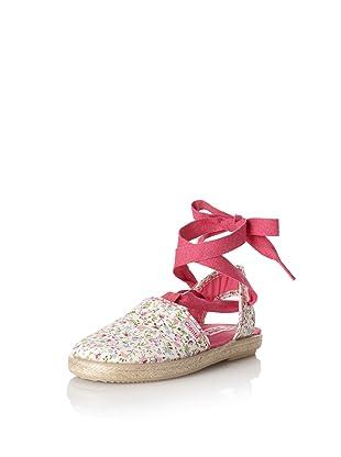 Cienta Kid's Floral Espadrille (Pink)