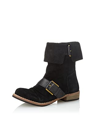 Modern Vintage Women's Oiley Cuffed Boot (Black)