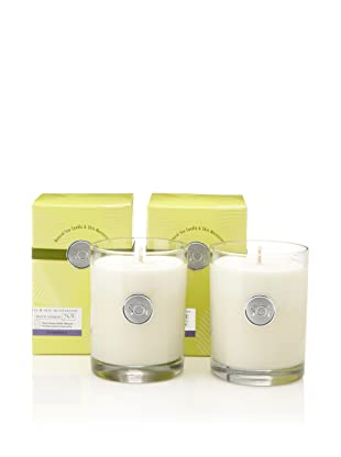 The SOi Company Set of 2 Plumeria 13.5-Oz. Luxe Boxed Highball Candles