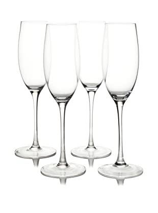 Ravenscroft Crystal Set of 4 Invisibles Collection Vintage Cuvee Champagne Glasses