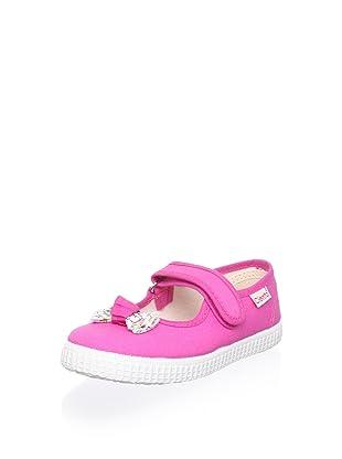 Cienta Kid's Bow Mary Jane Sneaker (Fuchsia)