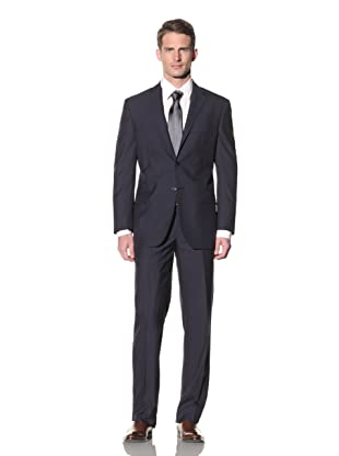 Yves Saint Laurent Men's Nailhead Pinstripe Suit (Navy/Ecru)