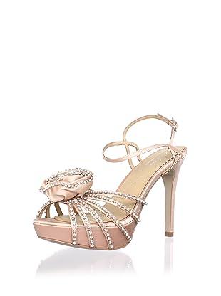 Le Soir Pour La Victoire Women's Hollyn Platform Sandal (Nude satin)