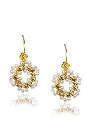 Diane Yang Pearl Flower Earrings