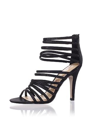 Le Soir Pour La Victoire Women's Briller Strappy Sandal (Black)