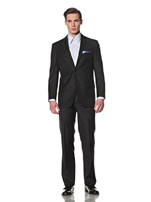 Yves Saint Laurent Men's Stripe Suit (Charcoal/Light Blue)