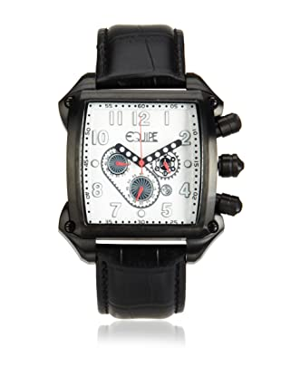 Equipe Men's Bumper Black/Silver Leather Watch