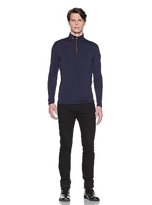 Hawke & Co Men's Half-Zip Compression Shirt (Navy)
