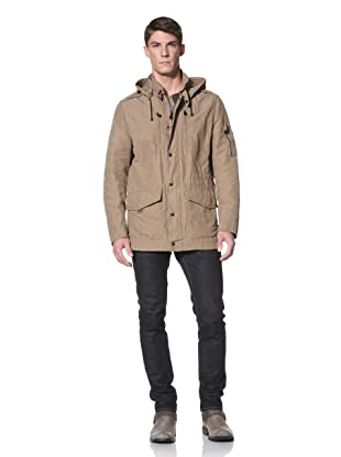 Andrew Marc Men's Adirondack Jacket with Button-Off Hood (Otter)