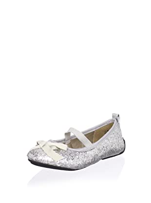 Melton Kid's Lil Glitter Ballet Flat (Toddler) (Silver/Multi)