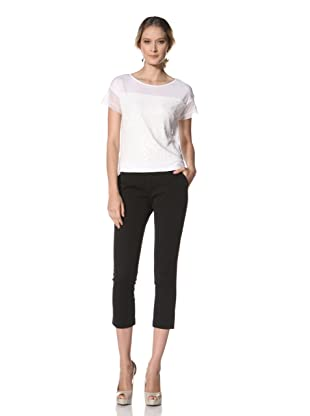 Kenneth Cole Women's Knit Tee with Paillette Detail (White)