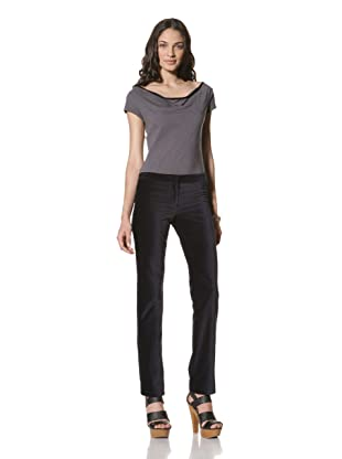 Billy Reid Women's Slim Velvet Pant (Navy)
