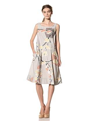 MARNI Women's Abstract Print Sleeveless Dress (Grey Multi)