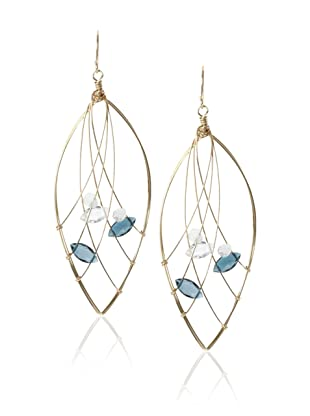 Misha London Blue Topaz Web Marquis Earrings