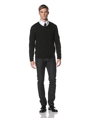 Hermès Men's V-Neck Knit (Black)