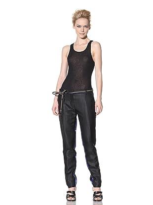 Haider Ackermann Women's Contrast Tuxedo Trousers (Black)