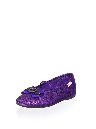 Cienta Kid's Bow Flat (Purple)