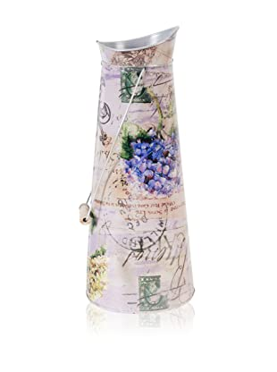 A&B Home Metal Floral Pitcher