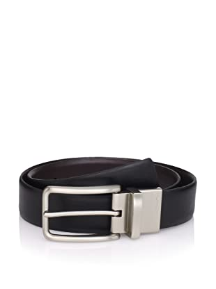 Calvin Klein Men's Reversible Feather Edge Strap Belt (Black/brown)