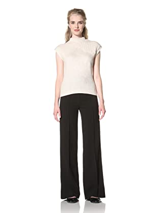 L.A.M.B. Women's Fitted Cap Sleeve Sweater (Oatmeal)