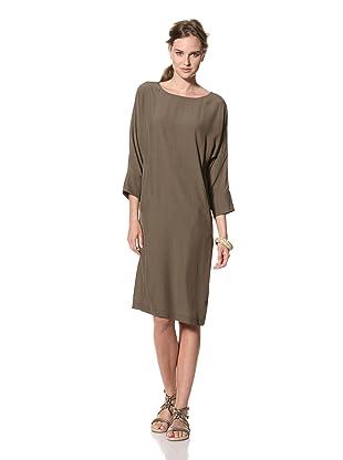 MARNI Women's Dolman Sleeve Shift Dress (Brown)