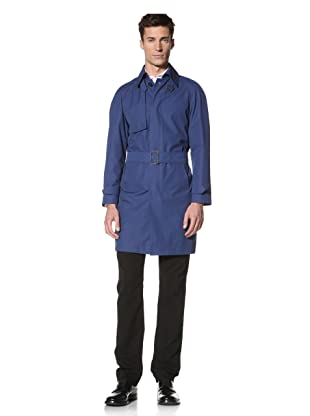 E.Tautz Men's Trench Coat (Royal Blue)