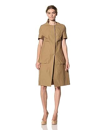 MARNI Women's Short Sleeve Duster Coat (Walnut)