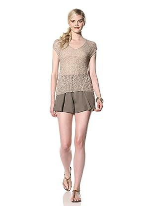 Rogan Women's Taraza Short Sleeve Sweater (Ecru)
