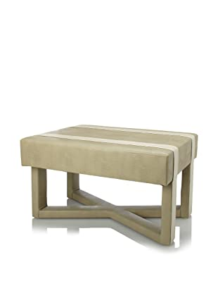 Shine by S.H.O Audrey Ottoman (Sand/Pearl)