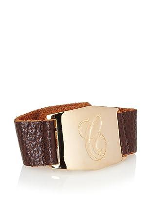 Lisa Stewart Gold C Initial Cuff Bracelet
