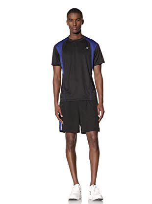 New Balance Men's Woven Run Short (Black/black)