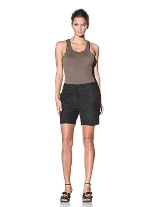 Haider Ackermann Women's Suede Dress Shorts (Black)