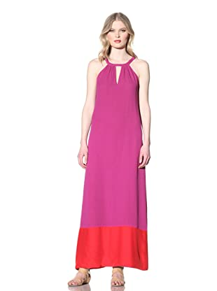 Julie Brown Women's Holly Colorblock Maxi Dress (Purple)
