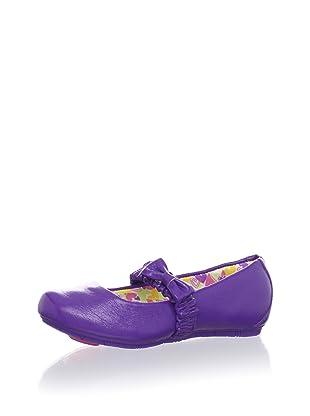 Pampili Kid's Twist Dance Ballet Flat with Bow (Violeta)