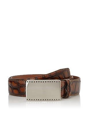 J. Campbell Los Angeles Men's Italian Leather Cayman Belt (Brown)