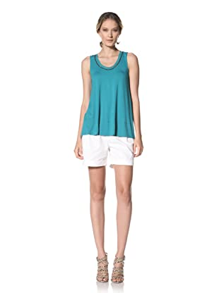 Kenneth Cole Women's Tank with Chain Trim (Teal)