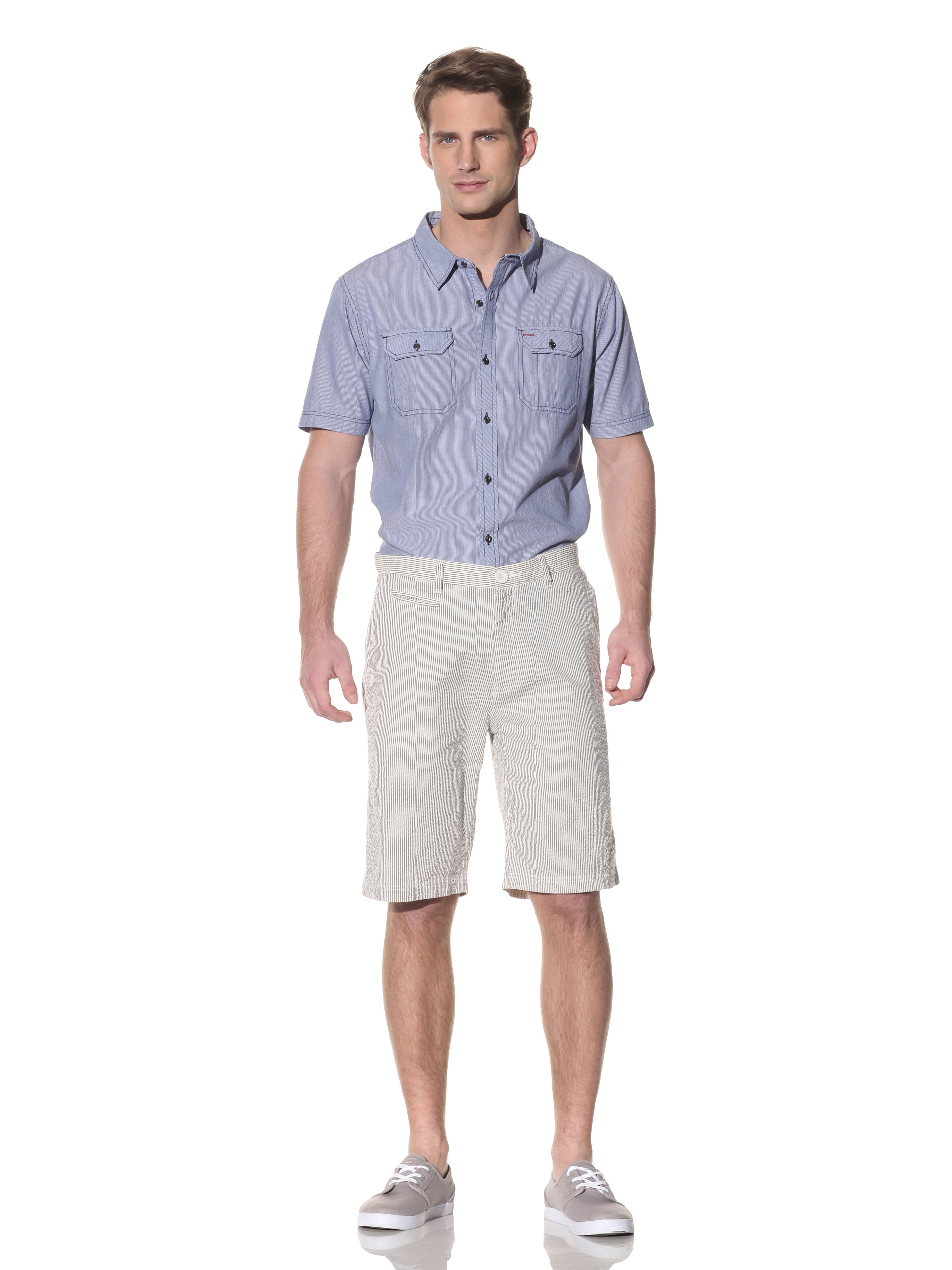 nüco Men's Seersucker Shorts (White)
