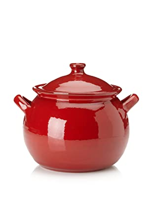 Terafeu Terafour 4-Qt. Round Casserole with Lid (Red)